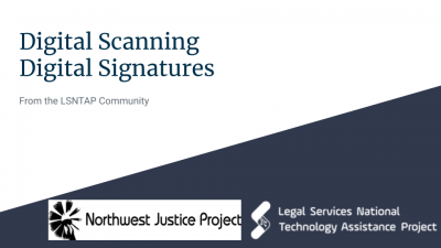 Scanning and Digital Signatures (Remote Legal Services)