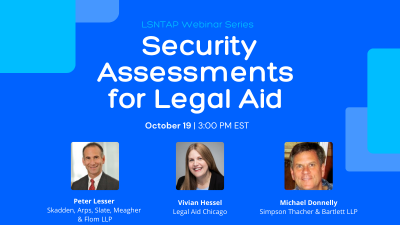 Security Assessments for Legal Aid