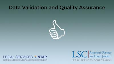 Webinar: Data Validation and Quality Assurance - Summary & Video