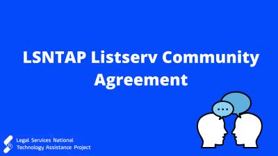 LSNTAP Listserv Community Agreement