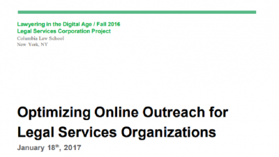 Optimizing Online Outreach for Legal Services Organizations