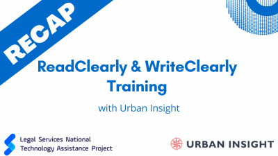 ReadClearly & WriteClearly Training Recap